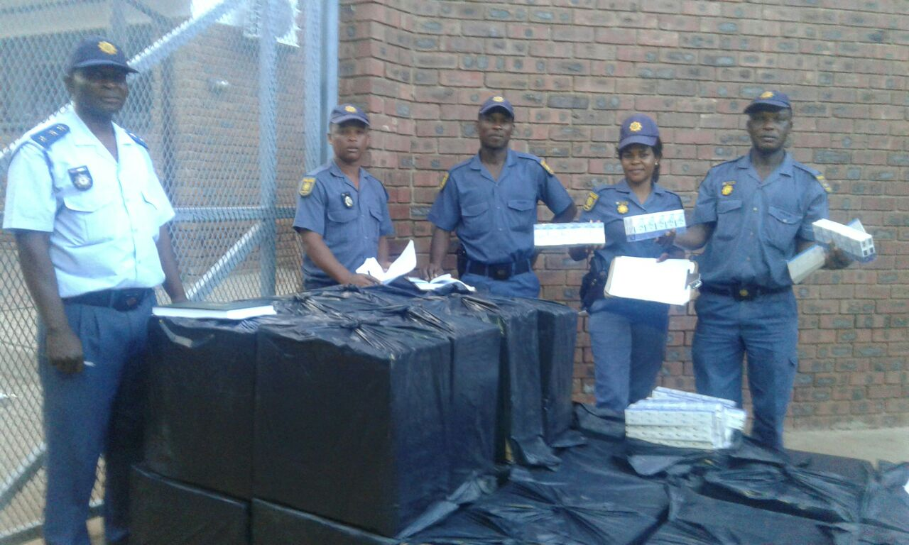 """""""The estimated value of these cigarettes is R258 000,"""" says the police. Photo: Limpopo Police"""