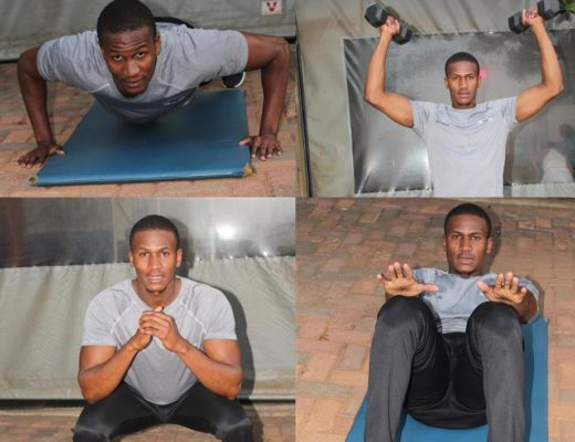 At home exercises with fitness trainer, Mpho | Review