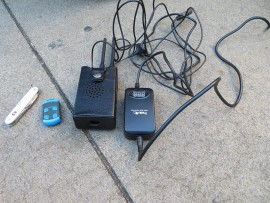 A gate remote is among the items that are used to jam cars. File Photo.