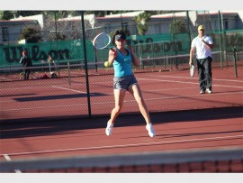 Samantha Muller is part of a number of great tennis players at Kinetik Tennis Academy.