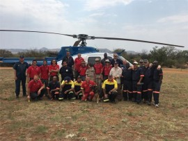Tristan (middle) with the group that searched for him when he went missing on the Magaliesberg mountains recently. Photo: Supplied.