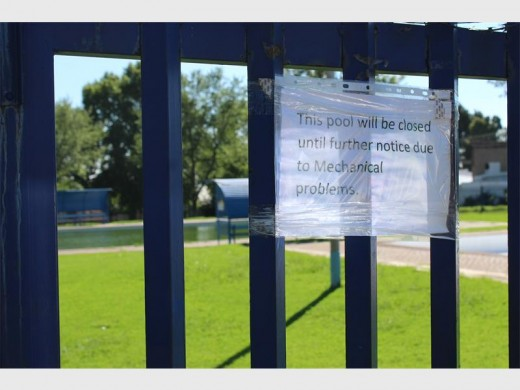 The Ochse Square pool closed on 22 December.
