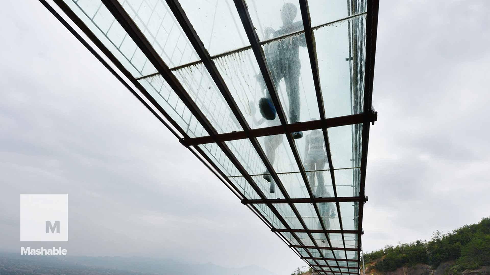 Take a 900-Foot Walk Over a Gorge Via a Glass-Bottomed Bridge