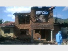 The house of Chief Masia Mohlala of Diphale, which was torched by angry residents in January.