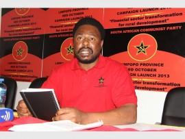 Gilbert Kganyago (Capricorn Mayor) during an SACP event near Polokwane.