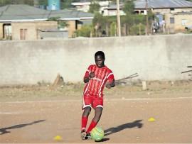 Dakalo Mukwevho in action on the soccer field.