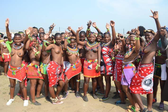 Thousands of topless zulu women with big boobs