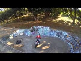 Motocross in a skate park