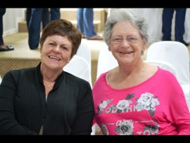Gerda Oosthuizen and her sister-in-law, Connie Hartley are enjoying the morning outing together.