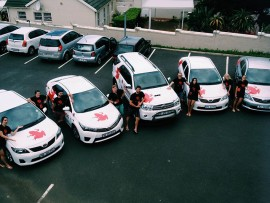 The Red Frogs team, sponsored by Toyota McCarthy to get to the Matrics if they need any immediate assistance.