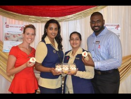 From left, Lisa Smart-Compos from Pinc, Ronnel Naidoo, Shamaime Daniel and José Nadesan.