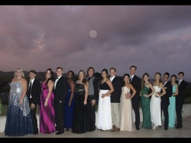 The matrics ready to celebrate their final year at school in style.