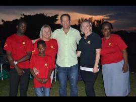 From left,Themba Mthembu, Sipho Gumede, Lisa Worthy, Graham Duane, Paula Owen and Ester Lynn