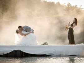 Your dream wedding becomes a reality at the Rain Farm Game and Lodge.