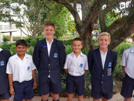 Umhlali Preparatory School's talented cricket players. From left, Joshua White (KZN U13), Aryan Singh (KZN U11), Dylan Hulett (KZN U13), Michael de Beer (KZN U11), Slade van Staden (KZN U13) and Roan Marais (KZN U12) are the proud new members of the KZN Cricket Players 2016.