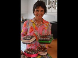 Gaby Lyle's hands are full baking the Christmas cakes for the Christmas Country Fair.