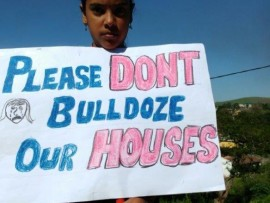 The Glenhills residents are protesting to stop KwaDukuza municipality from demolishing their houses. Photo: Erica Abrahams