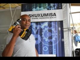 Entrepreneur Bongani Williamson showing off his skills.