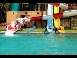 Sugar Bay holiday Camp boasts three new waterslides for everyone to enjoy on Sunday October 30 when there will also be a fun cook-off.