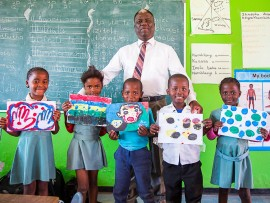 Through his new role as MRP Foundation Schools mentor, Abednego Khumalo, the former principal of Zilungisele Primary School  will be sharing his knowledge and experience to guide low income schools to success.Photo: MRP Foundation/Pierre Tostee.