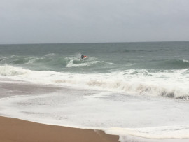 Rescuers search for the missing teenager from a jetski. Photo: IPSS Medical Rescue