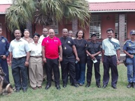 Members of the Umhlali K9 unit, correctional services, department of justice, fire  department and Boston college Stanger taught  pupils from Harry Bodasing Primary school valuable life lessons.