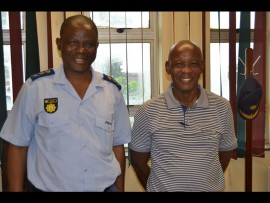 Cluster commander Mandlenkosi Chirwa and cluster spokesperson Johaness Khoza.