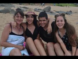 Charlotte, Sasha-Lee, Chritiano Oliveira and Liliana Da Silva from East Rand, Gauteng.