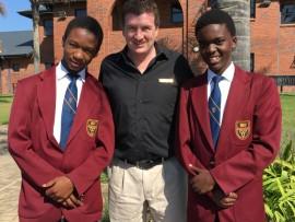 The proud, new Ilembe Hockey Squad members from left, Nsindiso Sibisi, Darren de Gouviea-Smith and Banele Ngwenya.