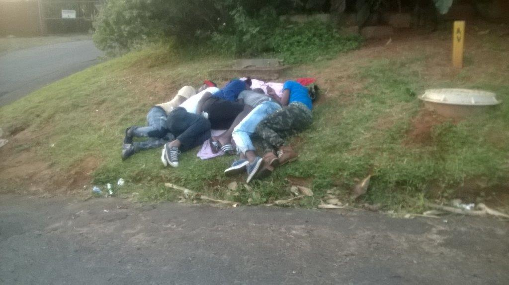 Party-goers found passed out on the side of the road in Blythedale on December 2.