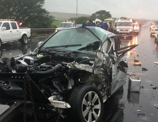 Four-car crash at Zinkwazi off-ramp   North Coast Courier