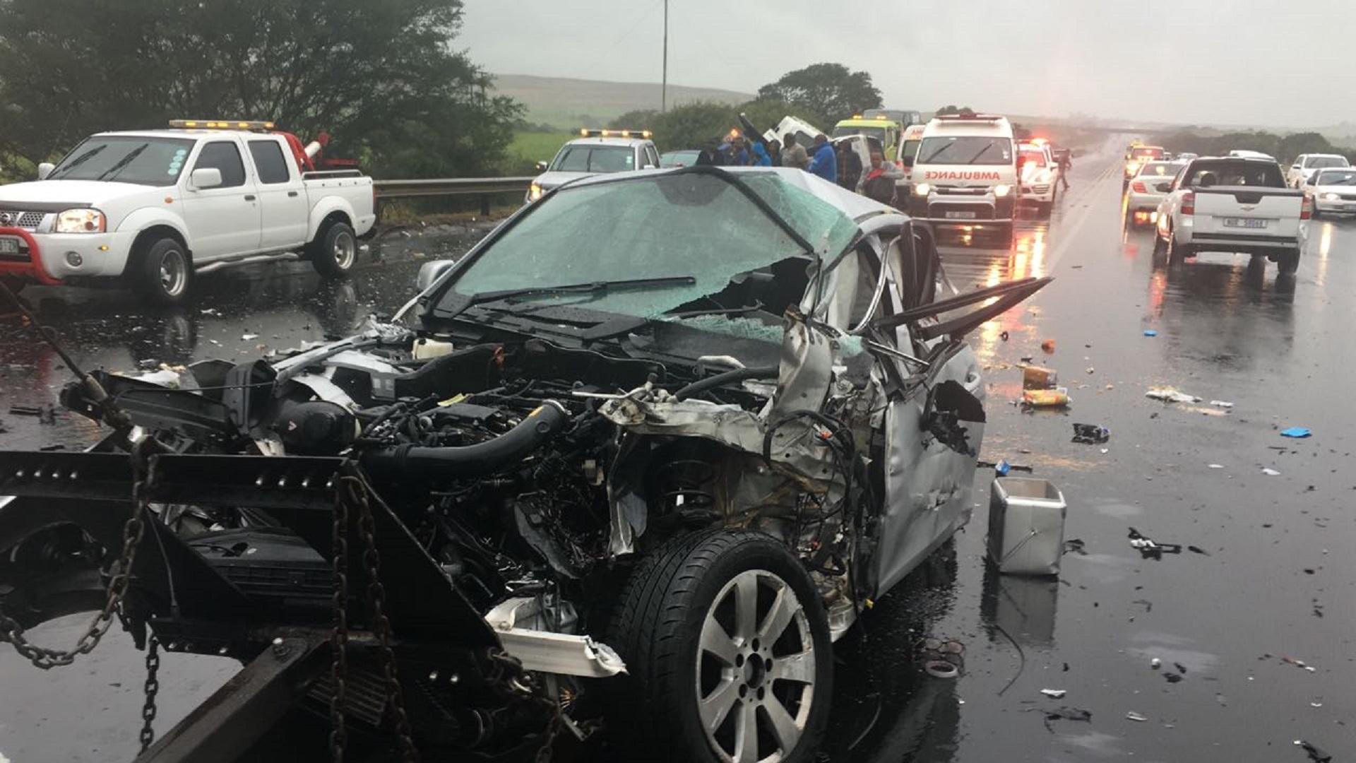 Terrible Two Car Crash