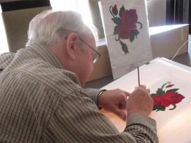 Marcel Heintjie being creative in the class.