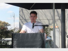 Excited... MasterChef Australia winner Brent Owens speaks at the Good Food and Wine Show.