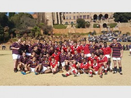 KES and SJC old boys sides after a match at St Johns College in Houghton.