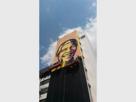 WHAT A LOT OF ART: The Braamfontein Graffiti Tour with local graffiti artist, Bias will be filled with interesting facts about the international and local graffiti movement.  Photo: Facebook, street art by Shepard Fairey