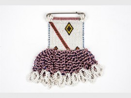 Beadwork presented at the Wits Art Museum.