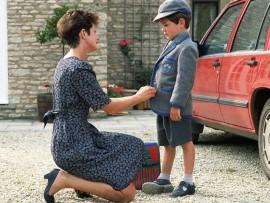 Mother Prepares Son For School
