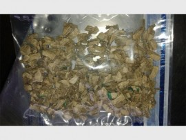 Some of the drugs recovered by the Hillbrow police yesterday.