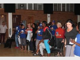 DA members applaud Herman Mashaba after his speech.
