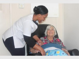 Philile Ndwande and Alida de Klerk at Queen Alexandra Retirement Village share a smile. The home is appealing to residents for support and volunteering.