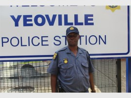 Constable Thabo Malatji of Yeoville Police Station.