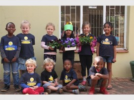Kiddies of Montessori Little Children at their recent spring day event at the preschool.