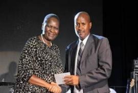 Photo: Facebook General MV Phiyega presents the National Commissioner's Award to Captain Chris Mangena.