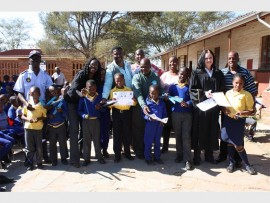 Stakeholders promote awareness for child protection week.