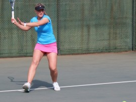 Lee Barnard of Pretoria beat her sister, Zani, in the final of the ITF Junior tournament at the Wanderers last week in Johannesburg. Zani was the first seeded girl.  Picture: BLD Communications