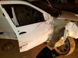 A Tshwane metro police vehicle collided with a cow on Friday night. Photo: Supplied.