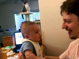 """KIDDIE WEDNESDAY: Three-month-old baby says """"I love you"""" for the first time"""