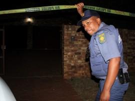 Police on scene. Photo: Ron Sibiya.