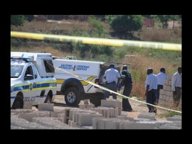 The Mamelodi East police at the crime scene.